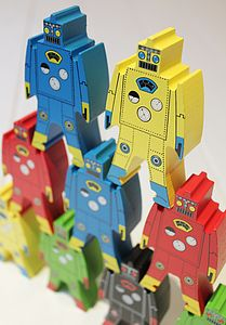 Wooden Stacking Robots - view all gifts for babies & children