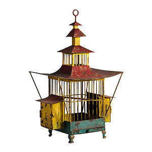 Oriental Red Bird Cage - hanging decorations