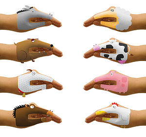Animal Temporary Hand Tattoos
