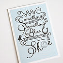 'Something Blue' Wedding Card