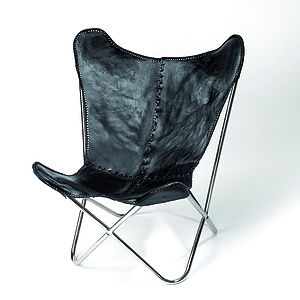 Leather Butterfly Chair - dining room