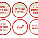 Front of Chat up line Coasters