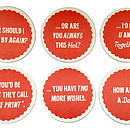 Back of Chat Up Lines Coasters