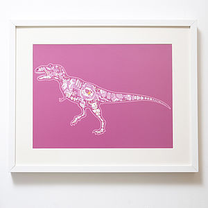 Mechanical T Rex Print