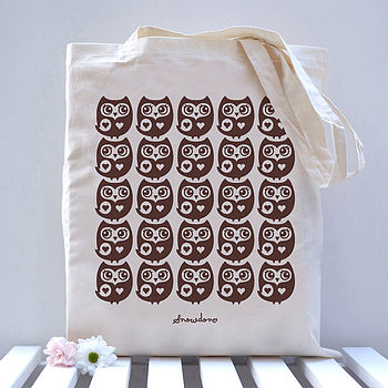 Little Owl Pattern Tote Bag
