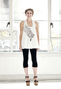 Vest With Screen Printed Illustration - women's fashion