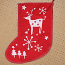 Christmas Reindeer Stocking