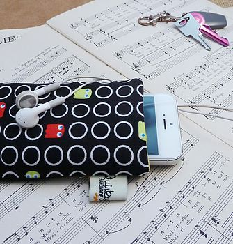 Handmade Pac Man Phone Case With Pocket