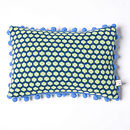 Popper Oblong Cushion_Petrel Blue & Green_Knit side