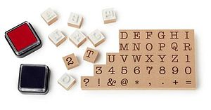Typewriter Letter Stamps - toys & games