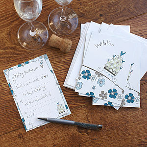 Set Of Eight Wedding Invitations