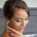 Vintage Inspired Pippa Crystal Bridal Earrings
