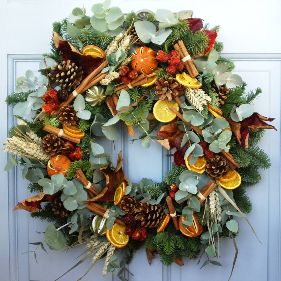 Fresh Country Christmas Wreath By The Artisan Dried Flower