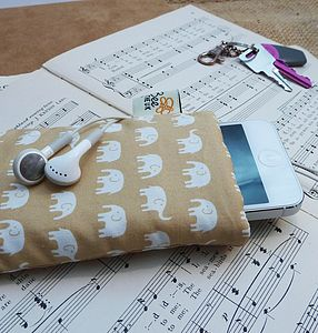 Handmade Elephant Parade Phone Case - bags & purses
