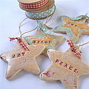 Peace And Joy Ceramic Stars