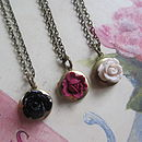 Best Friends Flower Locket