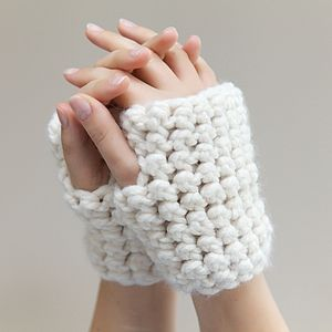 Chunky Crochet Wrist Warmers - gloves