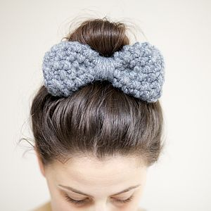 Knitted Hair Bow