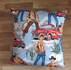 Cowboy Floor Cushions - patterned cushions