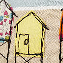 Embroidered Beach Hut Pencilcase