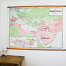 Vintage Map Arab World