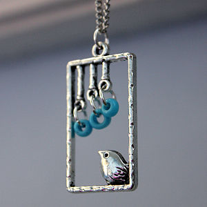 Birdy In A Window Necklace