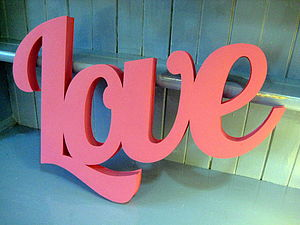 Handmade 3D Card 'Love' Sign - room decorations