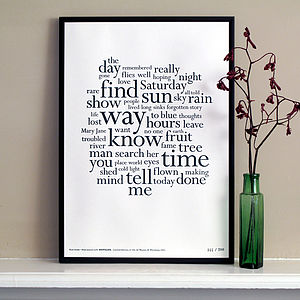 Nick Drake Distilled Letterpress Print - view all sale items