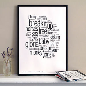 Patti Smith Distilled Letterpress Print - view all sale items