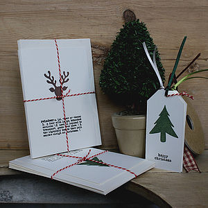 Pack Of Five Assorted Christmas Cards - christmas card packs