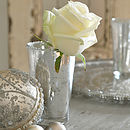 Scalloped Silver Glass Tealight Holder
