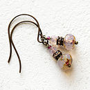 Pink Beaded pink Earrings