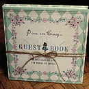 Alice in Wonderland Guest Book - Sage Green