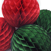 Tissue Paper Honeycomb Ball Decoration - easter