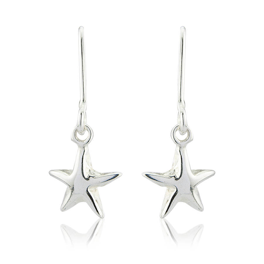 Silver Star Pendant And Stud Earring Set