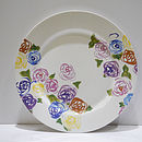 Dinner Plate With Rose Pattern