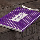 Personalised Spotty Dotty Guest Book