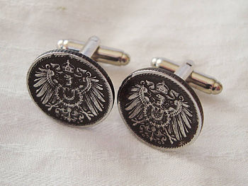 Germany Five Pfennig Coin Cufflinks