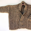Girls Hand Knitted Cable Cardigan
