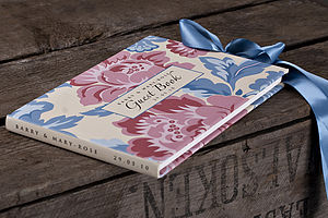 Personalised Peony Floral Guest Book