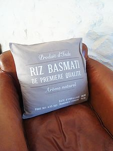 Beige Printed Cushion Cover