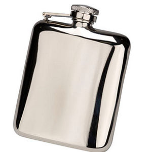 Engraved Cushion Hip Flask