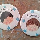 Personalised Boy's Birthday Badge