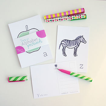 26 Alphabet Flash Cards
