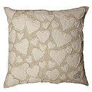 To Carry All My Love White Linen Cushion