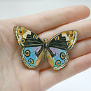 Freya Wooden Butterfly Brooch