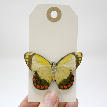Isobel Wooden Butterfly Brooch
