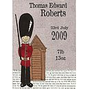 Personalised Birth Date Soldier Print