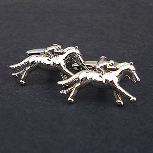 Race Horse Cufflinks - gifts under £50
