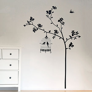 Birds In A Tree Wall Sticker - pictures, prints & paintings